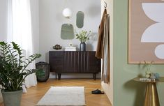 Meubels en accessoires voor de hal Home Trends, Home Living Room, Look Cool, Interior Decorating, Entryway, New Homes, Mirror, Cool Stuff, House