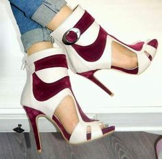faa5baaafabe Color Block Peep Toe Cut Out Back Zipper Stiletto High Heels Short Boot  Sandals