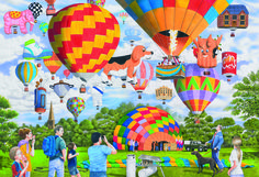 Balloon Bonanza Puzzle #jigsaw #puzzle #gifts #children #xmas #christmas #hobby #fun #gibsons #family #grandparents #children #balloon