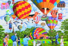 Balloon Bonanza Puzzle #jigsaw #puzzle #gifts #children #xmas #christmas #hobby #fun #gibsons #family #grandparents #children #balloon