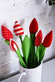 kwiaty z materiału, wiosenne dekoracje, dekoracje do pokoju, kwiaty do pokoju, dla dziewczynki