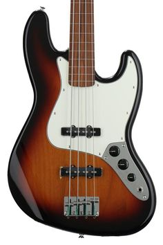 4-string Fretless Electric Bass with Alder Body, Maple Neck, Pau Ferro Fingerboard, and 2 Single-coil Pickups - Brown Sunburst
