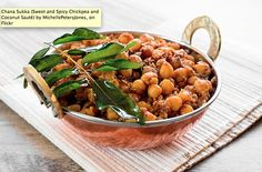 Chana Sukka (Sweet and Spicy Chickpea and Coconut Sauté) - #GMO free recipe