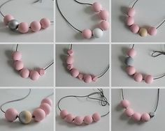 #Handmade baby/light/pastel pink #wood/wooden bead/beaded #necklace *14 designs*,  View more on the LINK: 	http://www.zeppy.io/product/gb/2/361890983916/