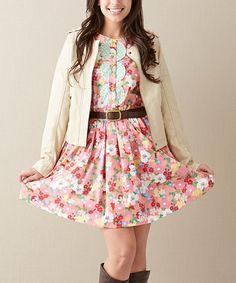 Look what I found on #zulily! Pink Leah Dress - Women by Matilda Jane Clothing #zulilyfinds