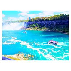 * How beautiful ❤️💛💙 *  Lucky for us!! *  #niagarafalls#niagara#instagood#tbt#nature#canada#trip#travel#trippy#traveller#trips#tripstagram#traveling#traveler#travelers#blue#river#beautiful#カナダ#ナイアガラ#genic_mag#genic_travel#pentaxq10