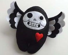 Skeleton Doll Scary Weird Kawaii Plush Sugar Skull. $40.00, via Etsy.
