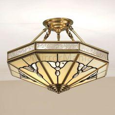 Gladstone Art Deco Short Ceiling Pendant