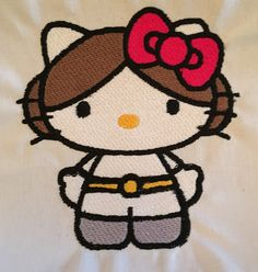 Princess Leia Hello Kitty: Miss Mary's Embroidery