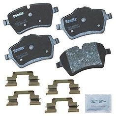 Bendix CFC1204 Premium Copper (Brown) Free Ceramic Brake Pad (with I