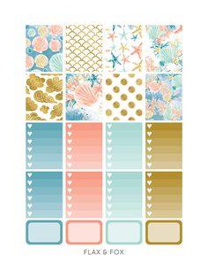 SEALIFE Weekly Planner Sticker Kit/Printable Planner
