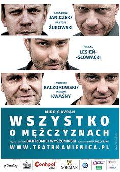 """Jaki jest prawdziwy męski świat? Spróbujemy się dowiedzieć dzięki spektaklowi """"Wszystko o mężczyznach"""" 5 marca! :)"""