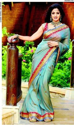 Sridevi as a nation loved her: curvy, vivacious and in a saree.