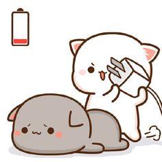 **dy lg perlu dicas g y 🤔 *lu kira dy robot 😑 **logic ggal pham, g peka 😑 Cute Bear Drawings, Cute Cartoon Drawings, Cute Kawaii Drawings, Cute Cat Drawing, Cute Love Pictures, Cute Love Gif, Cute Cat Gif, Cute Couple Cartoon, Cute Love Cartoons