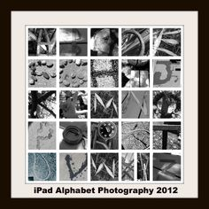 Great instructions and tips on creating an alphabet collage.  Each 4th grade student was assigned a letter to photograph with their iPads or iTouches.  Together they selected the best photographs, cropped them, changed them to black and white, and emailed them to their teacher.  An auction project. . . .