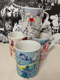 Moomin Valley Complete Set 4 Seasons Story Coffee Cups Mugs w/Box Yamaka japan in Collectables, Animation, Animation Characters | eBay
