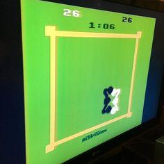By smacarena: Old-school Atari boxing. #atari #atari2600 #classicgaming #atari2600 #micrhobbit
