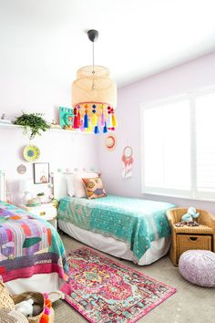 Tour The Whimsical Home Of This Award-Winning Interior Designer cute colorful kids' room. Childrens Bedroom Furniture, Cool Kids Bedrooms, Colorful Kids Room, Kid Room Decor, Bedroom Design, Home Decor, Childrens Bedrooms, Furniture, Room Inspiration