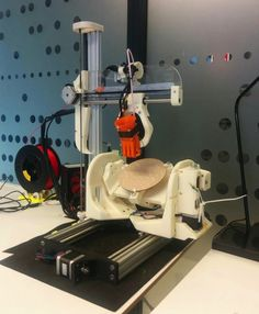 University of Oslo Master's Student Creates Amazing Open Source 5-Axis 3D Printer http://3dprint.com/77400/5-axis-3d-printer/