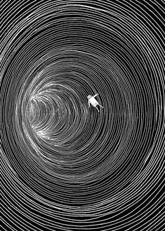 Lost in Space Art Print by Marjanne Mars Illusion Kunst, Illusion Art, Art Et Illustration, Illustrations, Art Sketches, Art Drawings, Skeleton Drawings, Space Drawings, Tattoo Sketches