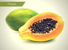 Die tropische Papaya ist besonders bekannt für ihre wertvollen Enzyme – daneben liefert sie aber auch große Mengen an Vitamin C, Provitamin A, Phosphor und Eisen.