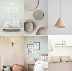 Amazing inspiration for a neutral elegant house - Summer Nudes by The Design Bird.