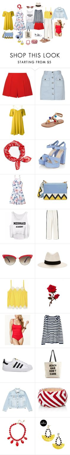 """капсула для  отдыха на море"" by explorer-14874273667 on Polyvore featuring мода, Alice + Olivia, MINKPINK, Essentiel, rag & bone, Hollister Co., Prada, Lacoste, Gucci и Violeta by Mango"