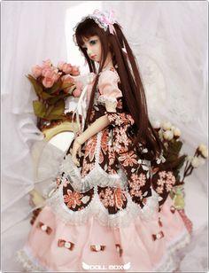Pink Lolita Outfit 1 3 1 4 Super Dollfie BJD Doll LUTS DZ DOD SD MSD Dress   eBay