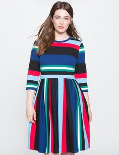 View our Opposing Striped Knit Dress and shop our selection of designer women's plus size Dresses, clothing and fashionable accessories.