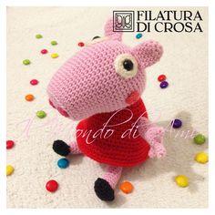 Peppa Pig realizzata con i filati Principessa ed Excellent (Filatura di Crosa)