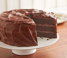 HERSHEY'S  perfect cake with super easy cocoa frosting
