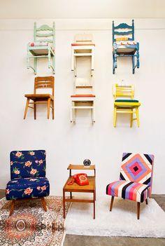 mid century chairs at jakartavintage showroom