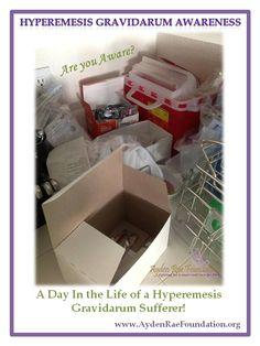 Yup!  This is my life now- boxes of syringes, meds, pump, and checking ketone levels. A Day In The Life of a Hyperemesis Gravidarum Suffer!