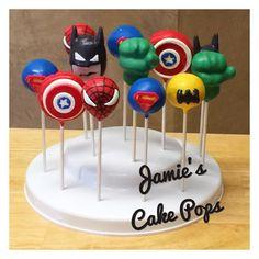 Superhero Cake Pops by JamiesCakePops on Etsy
