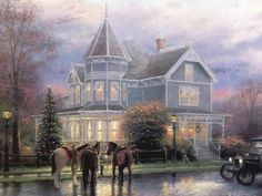 Thomas Kinkade Christmas Memories Cross Stitch Pattern