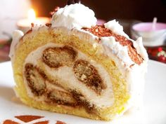 Recept na Srolované tiramisu Cake Roll Recipes, Rolls Recipe, Tiramisu, Christmas Baking, Nutella, Sweet Recipes, Cheesecake, Good Food, Food And Drink