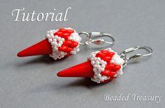 Arrowhead - beadweaving earrings tutorial / Beading tutorial / Earring tutorial / Bead pattern / Superduo tutorial / TUTORIAL ONLY