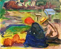 In the Garden - Edvard Munch (1902) Munch-museet- oil on canvas