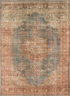E 08 Handwoven Turkish Oushak Distressed Vintage  rug. Size : 375 x 274 cm.   12' 3'' x 8' 10'' feet.  Door to door free shipping. by TrbalArt on Etsy https://www.etsy.com/listing/241145246/e-08-handwoven-turkish-oushak-distressed
