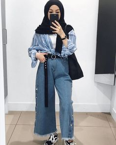 Hair women edgy fashion ideas 45 trendy ideas – Fashion Ideas Waiting You Hijab Casual, Hijab Chic, Ootd Hijab, Casual Hair, Trendy Hair, Modern Hijab Fashion, Street Hijab Fashion, Hijab Fashion Inspiration, Muslim Fashion