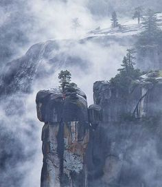 Merced River canyon, Yosemite National Park. Beauty in the mist: 30  mysterious and intriguing photos of fog
