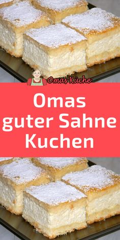 Grandmas heavenly cream cake-Omas himmlischer Sahne Kuchen Ingredients for the dough: 400 g flour 200 g butter or … - Dessert Cake Recipes, Easy Cake Recipes, Cookie Recipes, Desserts, Easy Vanilla Cake Recipe, Homemade Vanilla, New Cake, Cake Ingredients, Food Cakes