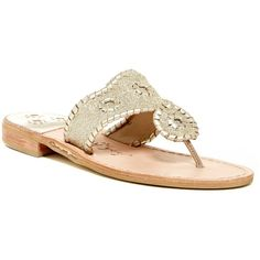 Jack Rogers Sparkle Sandal ($80) ❤ liked on Polyvore featuring shoes, sandals, platinum, sparkly sandals, jack rogers shoes, jack rogers sandals, strap shoes and glitter sandals