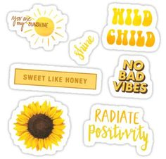 """""""Yellow Aesthetic Sticker Set """" Stickers by AnonArtistGirl Tumblr Stickers, Phone Stickers, Cute Stickers, Macbook Stickers, Tumblr Yellow, Aesthetic Stickers, Trendy Wallpaper, Diy Phone Case, Printable Stickers"""