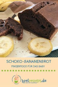 Bananenbrot ohne Zucker backen Chocolate banana bread without sugar is perfect as porridge-free complementary food for the baby and for everyone who wants to eat healthy. With cocoa and bananas, it provides valuable energy for the day: www. Chocolate Banana Bread, Chocolate Chip Muffins, Chocolate Chocolate, Banana Bread Without Sugar, Sugar Bread, Sven Bender, Brownies Cacao, Banana Baby Food, Baby Snacks