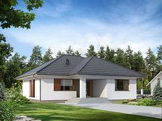 Projekt domu Umbra Style At Home, Architectural House Plans, Small House Design, Home Fashion, Bungalow, Gazebo, Farmhouse, Outdoor Structures, Cabin