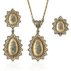 Buccellati - Earrings - Pendant Earrings with Chain - Earrings
