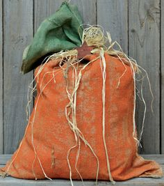 Burlap Pumpkin Bag