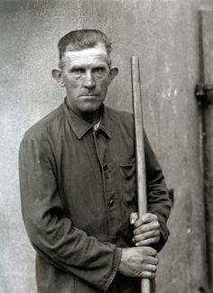 Farmhand, 1951 - photo by August Sander