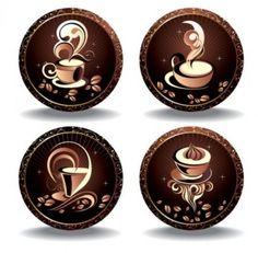 lujo granos de café fino vector elemento | Descargar Vectores gratis